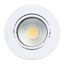 SPOT EMBUTIR LED COB PP 5W 4000K REDONDO BRANCO - STARTEC