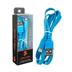CABO LIGHTNING + USB A - FLAT 5GB AZUL 1,20 METROS REF 018-0033 - SANTANA