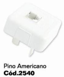 PLUG MACHO TELEFONE 4PINOS/RJ11 BRANCO 2540 - ILUMI