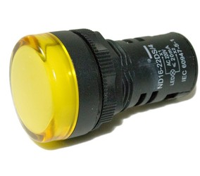 SINALEIRO LED 22MM 220V AMARELO (LAY5-EV175) 27.54.75 - SCHUHMACHER