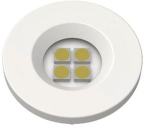 LUMINARIA PONTUAL REDONDA 1,2W 4 LED 3000K BIVOLT BR E32.B