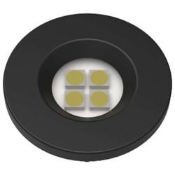 LUMINARIA PONTUAL REDONDA 1,2W 4 LED 6000K BIVOLT PRETA E515.P - NUZE / ARTETÍLI
