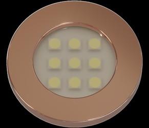 LUMINARIA PONTUAL REDONDA 1,2W 9 LED 3000K BIVOLT COBRE E311.CO - NUZE / ARTETÍL