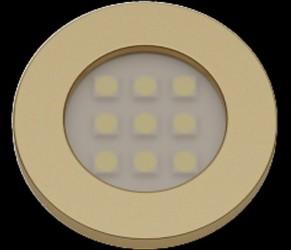 LUMINARIA PONTUAL REDONDA 1,2W 9 LED 3000K BIVOLT ORO VECHIO 311.OC - NUZE / ART