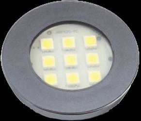 LUMINARIA PONTUAL REDONDA 1,2W 9 LED 3000K BIVOLT TITANIUM 311 - NUZE / ARTETÍLI