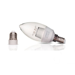 LAMPADA VELA LED 6W BIVOLT 6000K COM ADAPTADOR E-27
