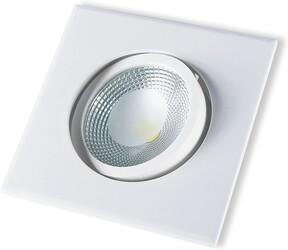 SPOT EMBUTIR LED COB PP 5W 3000K QUADRADO BRANCO 148160032 - STARTEC