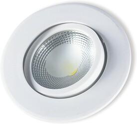 SPOT LED EMBUTIR COB PP 5W 6500K REDONDO BRANCO 148160031 - STARTEC