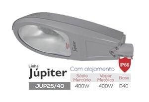 LUMINARIA PÚBLICA INJETADA 250/400W E-40 COM ALOJAMENTO JUP25/40R - OLIVO