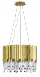 LUSTRE CRISTAL STEIN 40CM 6XE14 REDONDO OURO LD5151 - MBLED