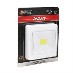 LUMINÁRIA TOUCH LIGHT LED POCKET 3W 6500K BRANCA 254061370 - AVANT