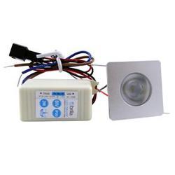 Luminária LED de Embutir 1,5W Quadrada Bivolt Brilia 2 unidades.