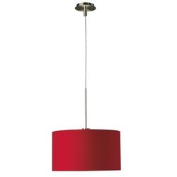 Pendente Philips Aruba em metal e tecido 1,5m x 1,2cm Vermelho